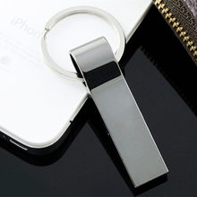 USB 2.0 stainless steel USB Flash Drive Key Chain Pen Drive 8GB 16GB 32GB 64GB 128GB usb stick Pendrives Memory Stick(China)