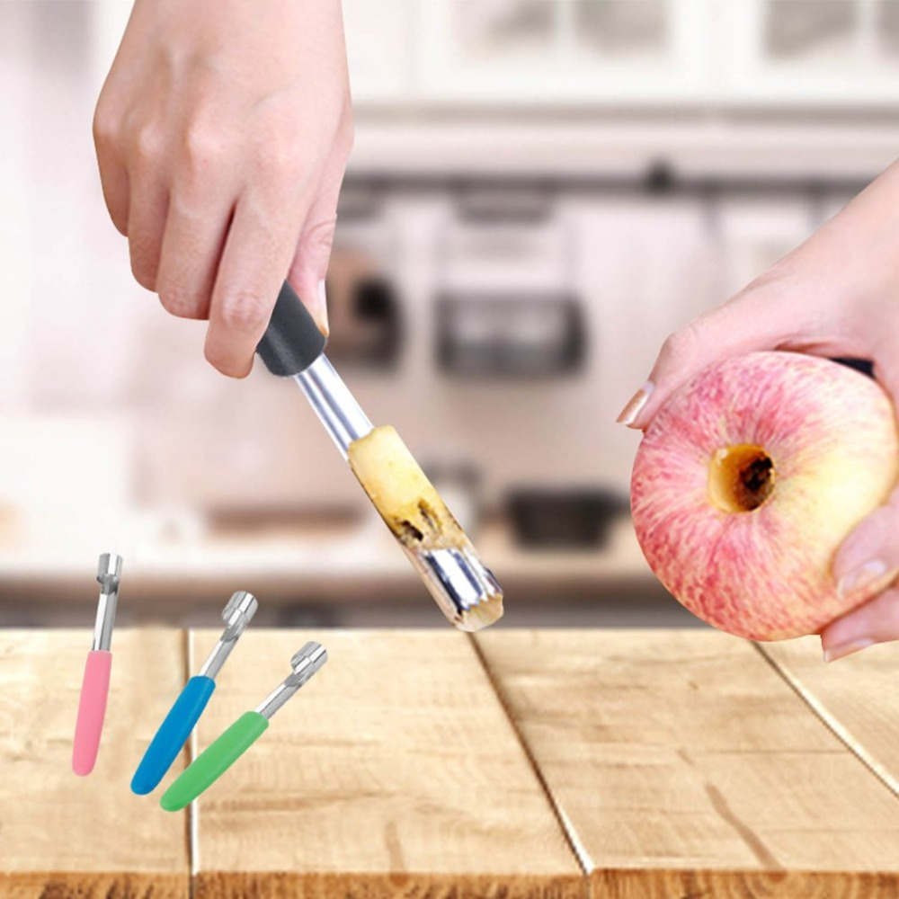 Stainless Steel Apple Pear Peach Jujube Fruit Seed Core Separator Coring Device Digging Tool Fruit Stalk Corer Peel Off Seeder