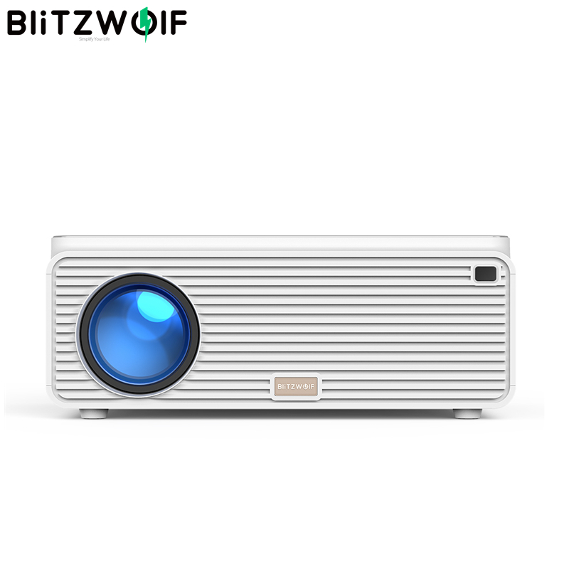 Blitzwolf BW-VP2 LCD Projector 6500 Lumens Support 4K Resolution Image Adjustment HDMI VGA AV Multiple Ports Home Theatre System