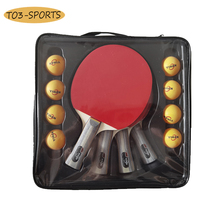 Table-Tennis-Racket-Set Rubber Carbon-Ping-Pong 4-Paddles Professional Double-Sided