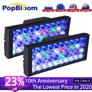 PopBloom аквариумное светодиодное освещение, лампа СИД аквариумный свет коралловый риф светодиодные аквариумные лампочки освещения для морск...