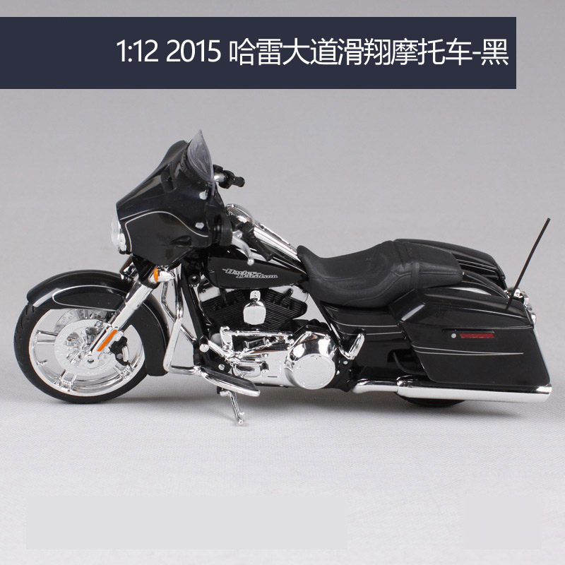 1:12 Scale Harley-Davidson 2015 Street 750 Black Diecast Motorcycle Model Gift
