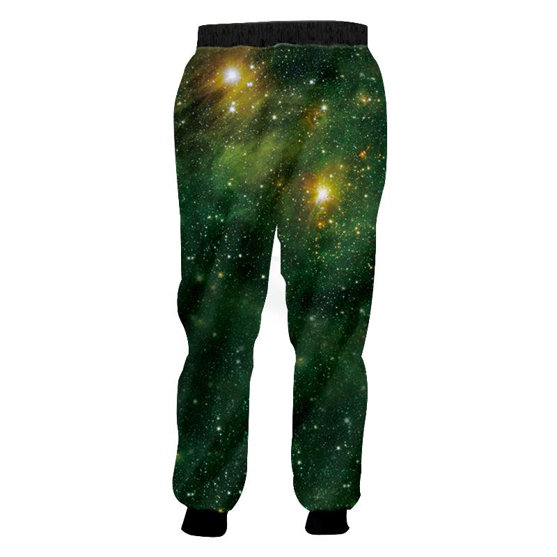 Men Women Casual Jogger Sweatpants 3DGreen starry sky printing Unisex Workout Jogger Pants with Drawstring Brand trousers
