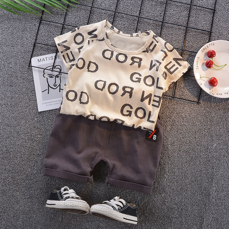 Baby Boys Girls Summer Clothes Fashion Cotton Set Printed Fruit Sports Suit For A Boy T-Shirt + Shorts Children/'S Clothing