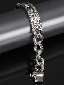 Trustylan Link Bracelet Chain Jewelry Stainless-Steel Punk Male Heavy-Cross Wristband