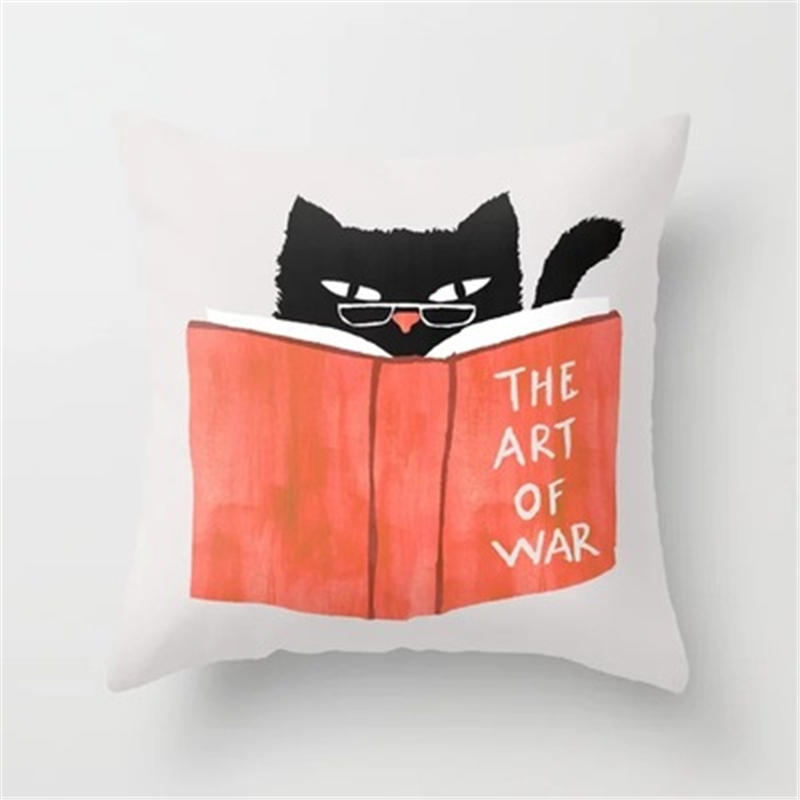 Cartoon Design Cushion Cover Cute Giraffe Otter Unicorn Moon Polyester Printed Children/'s Room Home Decoration Sofa Pillow Case