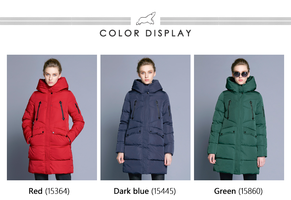 ICEbear 19 New Women Winter Jacket Coat Slim Winter Quilted Coat Long Style Hood Slim Parkas Thicken Outerwear B16G6155D 2