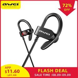 AWEI WT50 Спортивные Беспроводные Наушники Bluetooth Dual power! ушной крючок водонепроницаемый IPX4 гарнитура шумоподавление hi-fi-стереозвук