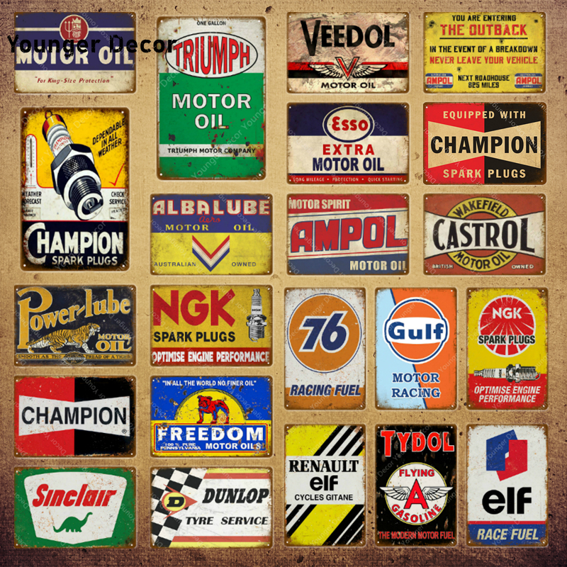 20X30cm Tin Metal Sign CHAMPION SPRK PLUG VINTAGE GARAGE CAFE BAR PUB Wall 018