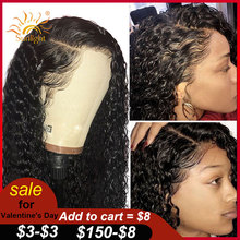 Wig Human-Hair-Wigs Sunlight Water-Wave Transparent Lace-Front Pre-Plucked Remy 13X6