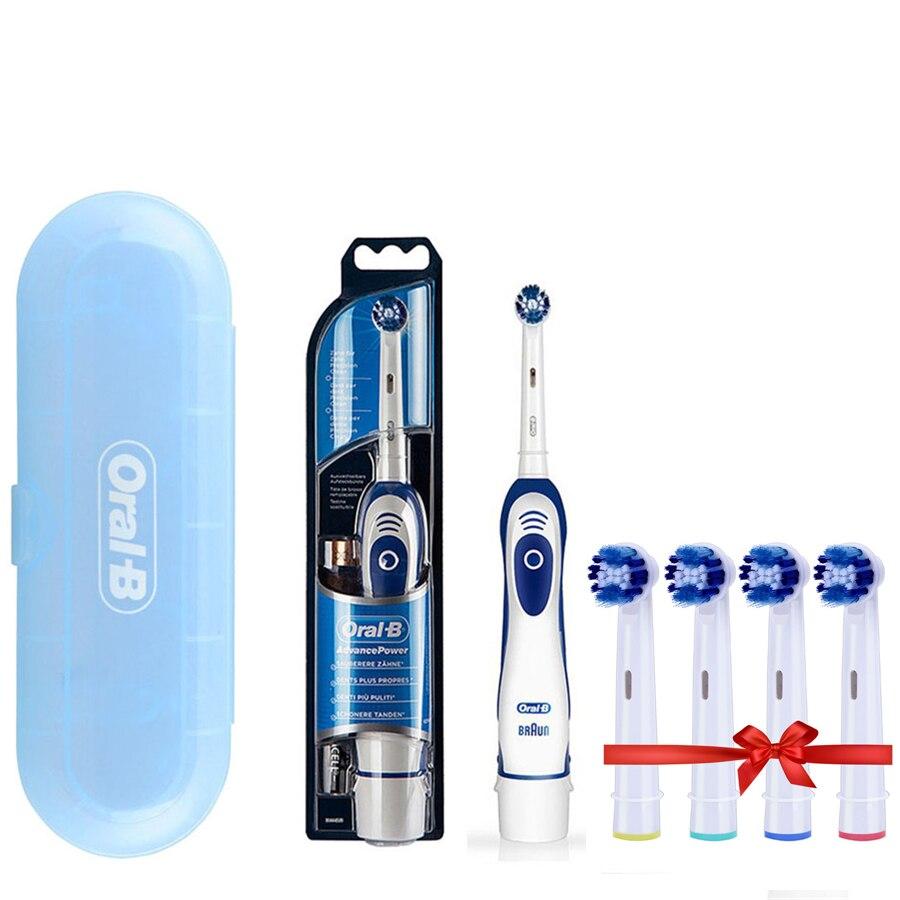 Электрическая зубная щетка Oral B Sonic DB4010, вращающаяся электрическая зубная щетка из Германии со сменной головкой для гигиены полости рта, зубов и десен, работает от батареек