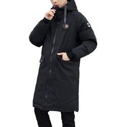 Парка длинная мужская ветрозащитная на х/б подкладке, с большими карманами, на зиму