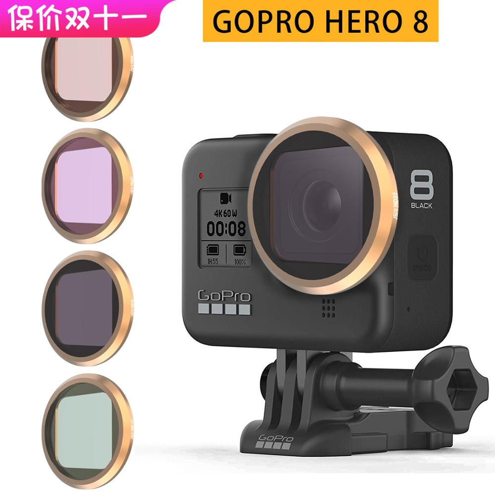 Sports Camera Diving Waterproof Underwater ND8 ND16 ND32 Lens Protection Filter Kit Photography Accessory for Gopro 5 Action Camera Lens Filter Set
