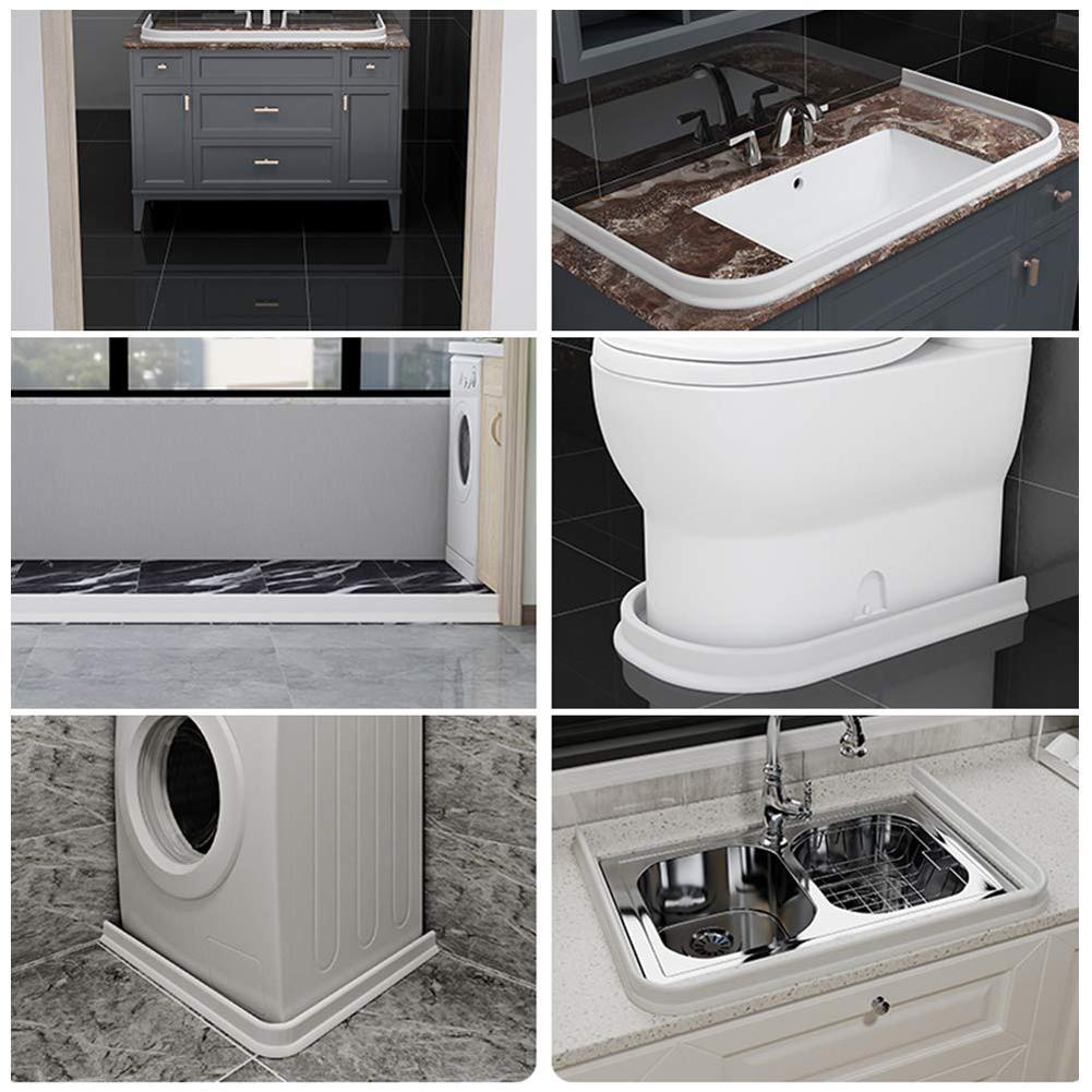 Bathroom Waterproof Water Strip Seal Wet Dry Separation Silicone Water Stopper