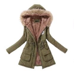Женская парка, повседневная верхняя одежда, осень-зима, пальто с капюшоном в стиле милитари, зимняя куртка, женские меховые пальто, женские з...