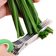 Multifunctional Kitchen Minced Chopped Scissor Scallion-Cutter Cook-Tool Shredded Herb