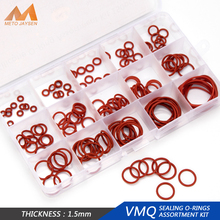 150PCS PCP Paintball Sealing O-rings VMQ OD 6mm-35mm 15 Sizes CS 1mm 1.5mm 1.9mm 2.4mm 3.1mm Silicone O Rings Replacements HG013