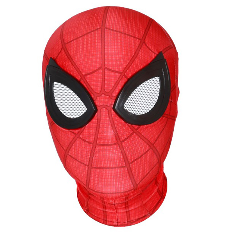 New SpiderMan Homecoming Suit Headgear Peter Park Cosplay Red  Mask With Glasses