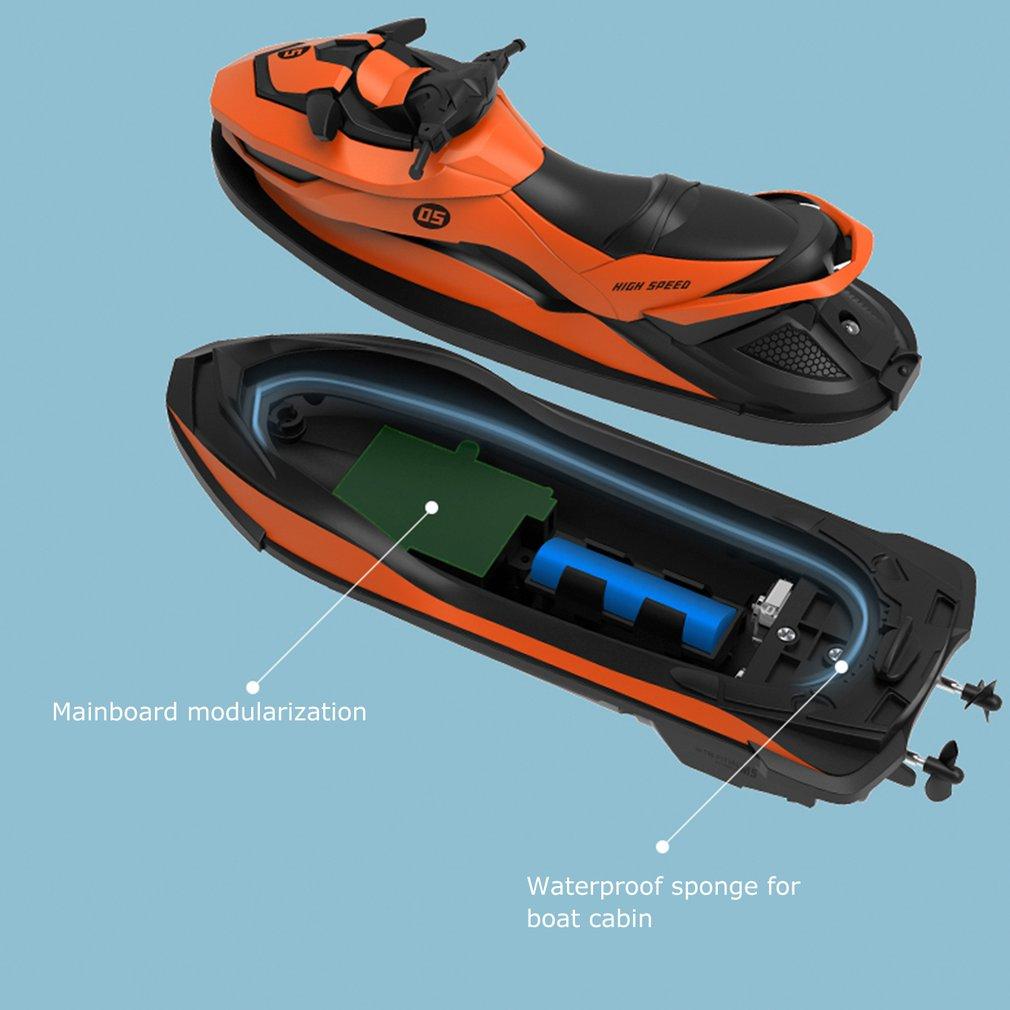 Footwear - 2.4G 4CH Mini RC High Speed Waverunner Motorcycle Model with Light Kids Robot RC Motorbike Toys