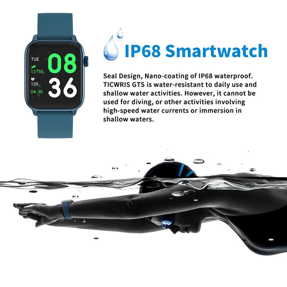 Weapon - IP68 Waterproof Smart Watch Men Round Screen Heart Rate Blood Pressure Monitoring Smart Watch