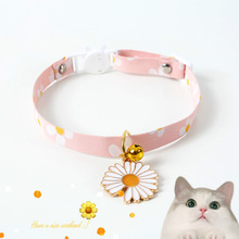 Dog-Harness Flower Bell Cat Pet-Collar Perros-De-Gato-Accessories Rabbit-Leash Japanese-Style