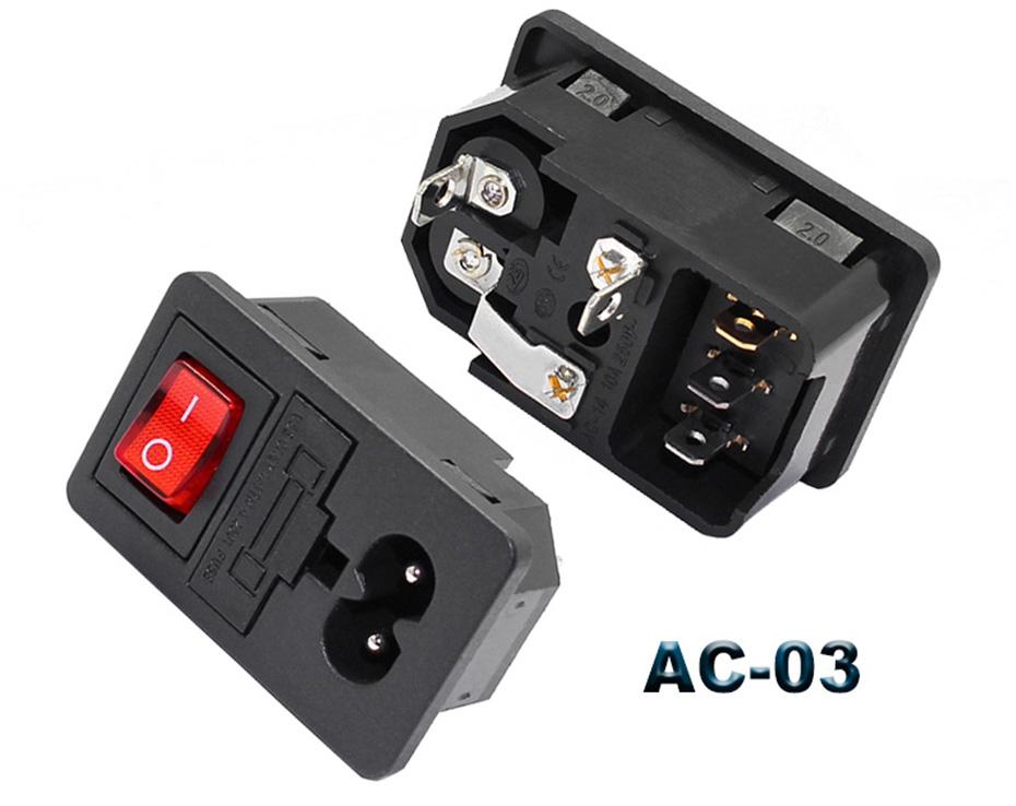 2pin rocker switch socket