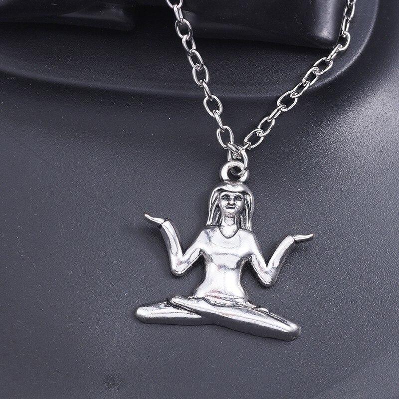 Trendy-Silver-OM-Yoga-Pendant-Necklace-Women-OHM-Hindu-Buddhist-AUM-Hatha-Outdoor-Sport-Necklaces-Pendants