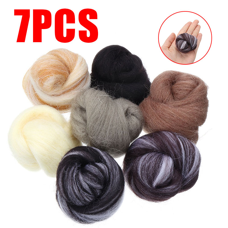 36Pcs Needle Felting Natural Collection For Animal Projects Soft Wool DIY
