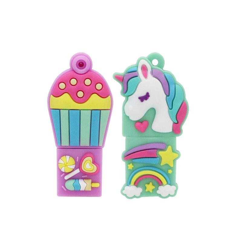 16GB Pendrive Cartoon Popular Unicorn Model USB Flash Drive Memory Stick Gift