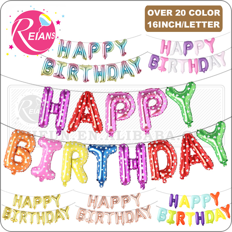 Happy 3rd 3 Birthday Party Celebration Foil Helium Balloon 45cm Weight Star