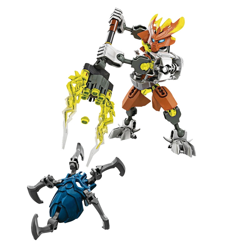 BIONICLE Movies Set Block Toys For Children Kids Ice Figures Mata Nui Toa Stone Model Fire KSZ706-2 Air Single sale Nuva Creator