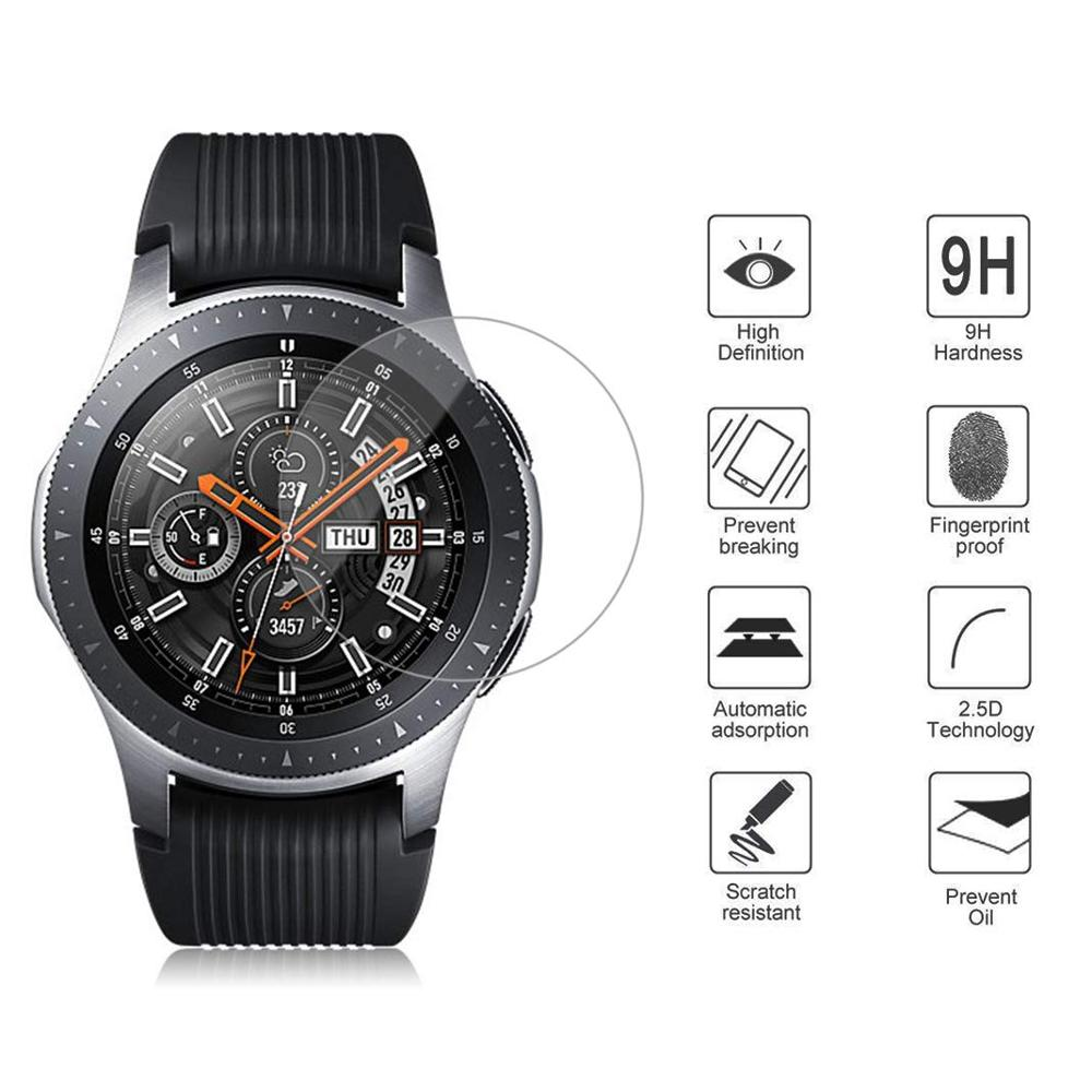 1/3/5/6 pcs for Samsung Galaxy Watch 42mm 46mm Tempered Glass Screen Protector Protective Film Guard Anti Explosion Anti-shatter