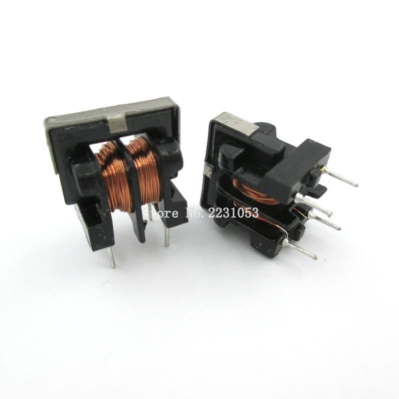 Aexit 2Pcs Common Passive Components Mode Choke Toroid Filter Inductor 10mH Inductors UU9.8 Series