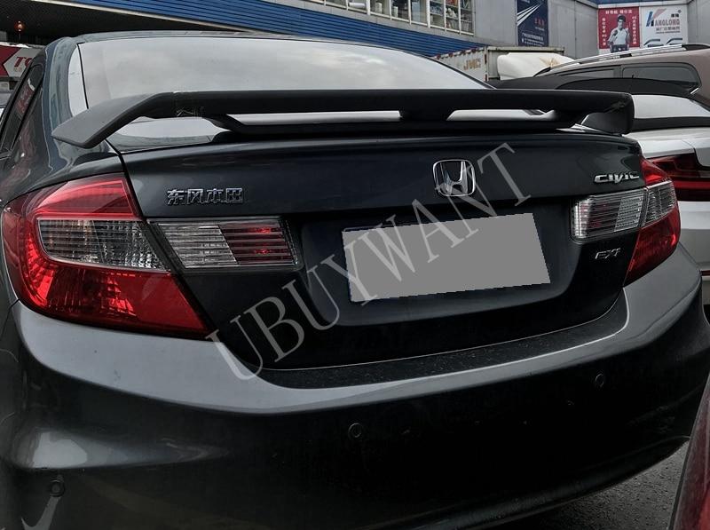 Fit Honda 12-14 Civic Spoiler Rear Trunk Tail Wing Lip 4DR Sedan Primer Unpaint