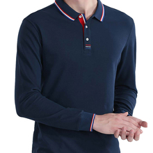 Jerseys Polo-Shirt Slim-Fit Long-Sleeve Plus-Size Men Fashion Casual High-Quality Mens