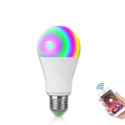Ampoule светодиодный E27 Беспроводная Bluetooth умная Лампа 15 Вт 85-265 в RGBW светодиодный светильник с музыкальным управлением 20 режимов для IOS/Android