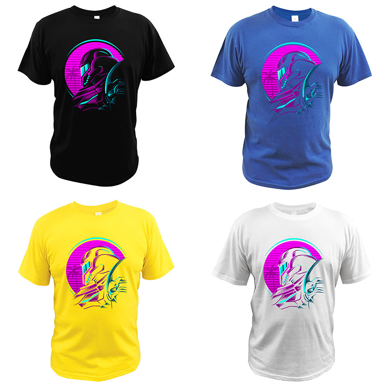 The Metroid T Shirt Samus Aran Tshirt 100% Cotton Digital Print High Quality Comfortable Video Game Tee Tops