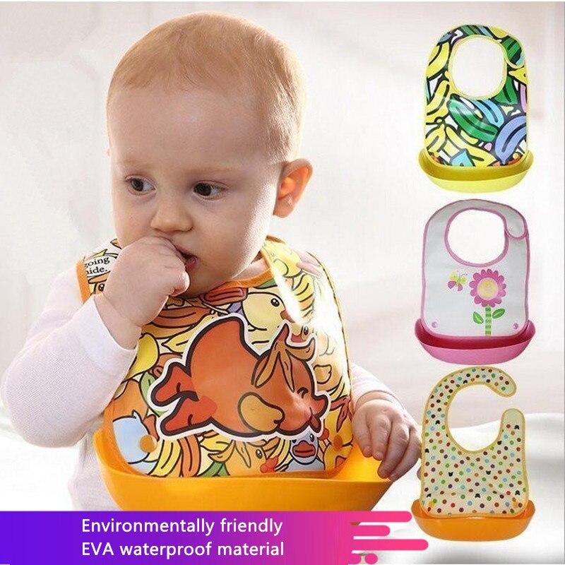 Baby Boy Girl Waterproof Bibs Toddler Cartoon Food Feeding Saliva Drool Bandana