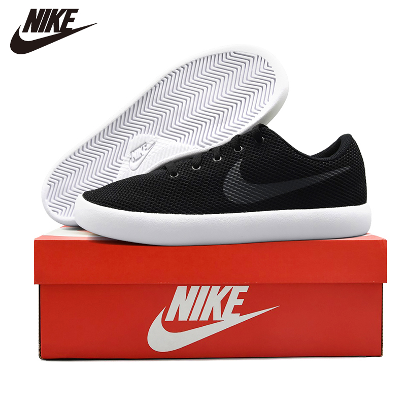 Nike Skateboarding-Shoes Outdoor-Sneakers FINALE Cut-Outs Black Sports EVO Mens Authentic title=