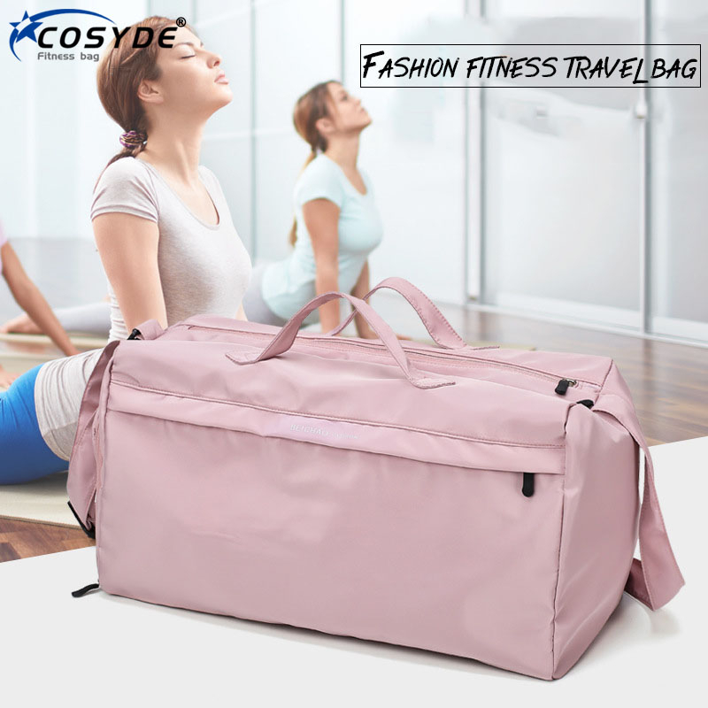 Fashion Big Sport Training Gym Bag Outdoor Sport Training Gym Bag Waterproof Women Fitness Bag For Shoe Travel Yoga Handbag Men title=