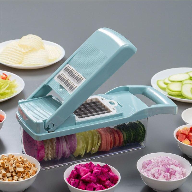 18in1 Mandoline Vegetables Fruit Cutter Slicer Grater Adjustable Blades Kitchen/&