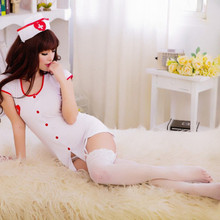 Cosplay Dress Costume Lingerie-Set Sleepwear Nurse-Uniform Sexy Exotic White Women Night-Wear