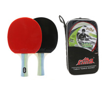 Paddle Ping-Pong-Blade Table-Tennis Professional Racket-Bag Rubber 7 7stars Pimples-In