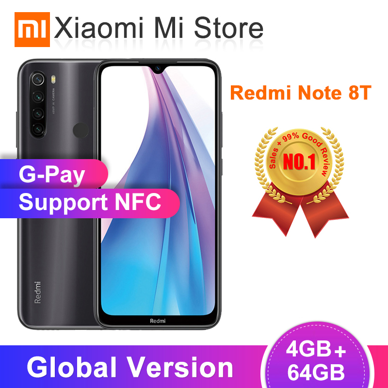 Xiaomi Redmi Note-8t 4GB 64GB 4gbb GSM/WCDMA/LTE NFC Quick Charge 3.0 Octa Core Fingerprint Recognition title=