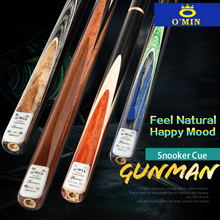 O'MIN GUNMAN Snooker Cue 3/4 Piece Snooker Cue Kit with O'MIN Case with Telescopic Extension 9.5mm 10mm Tip Snooker Stick Kit