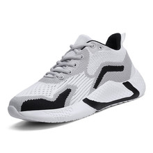 Casual Sneakers Running-Shoes Thick-Sole Breathable Lace-Up Mesh Classic Men Kong-Style
