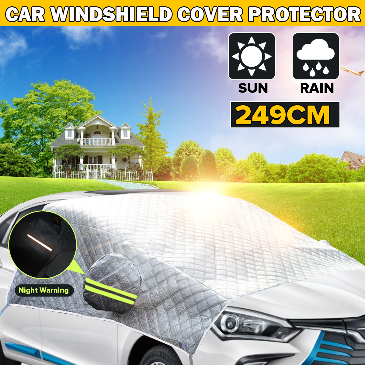 Car Windshield Snow Winter Ice Frost Guard Protector UV Sun Dust Shield Cover