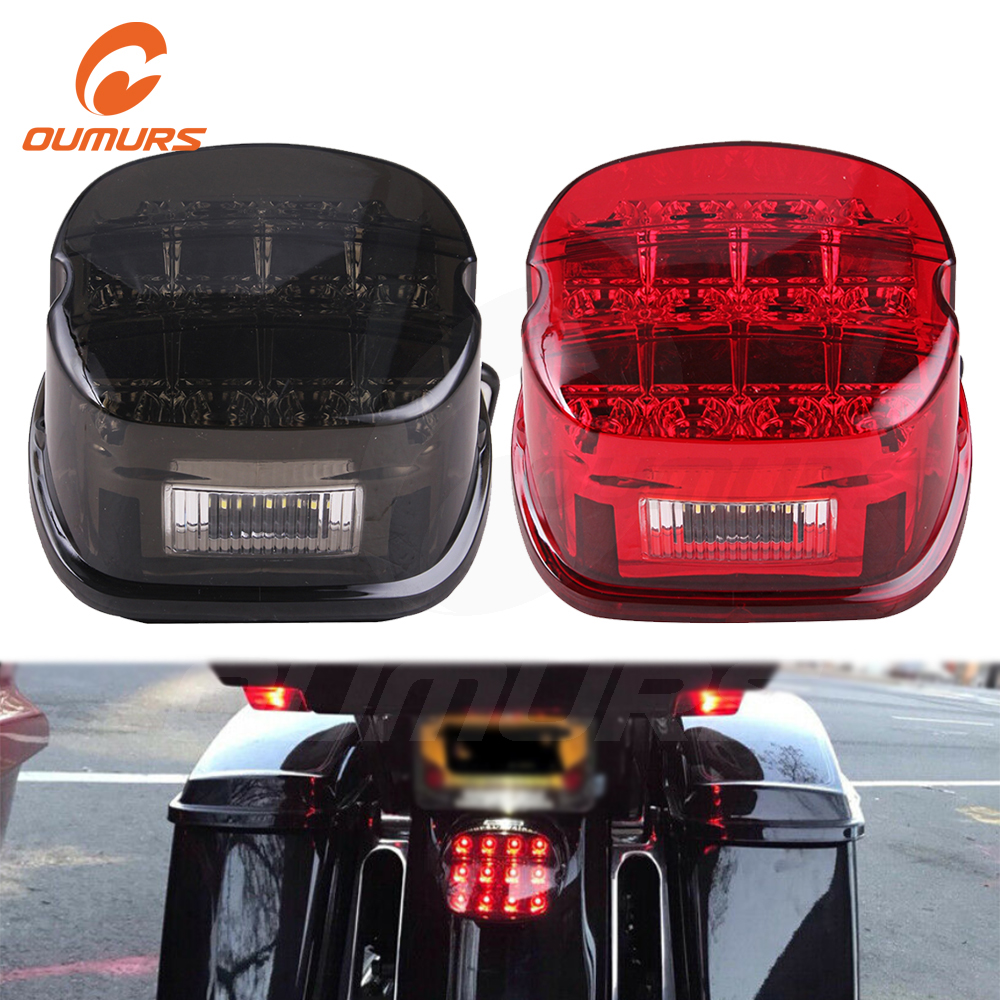 OUMURS Motorcycle LED Tail Light Indicator Brake Running Lamp For Harley Touring 1999-2008 Road King Electra Glide Dyna motorbik title=
