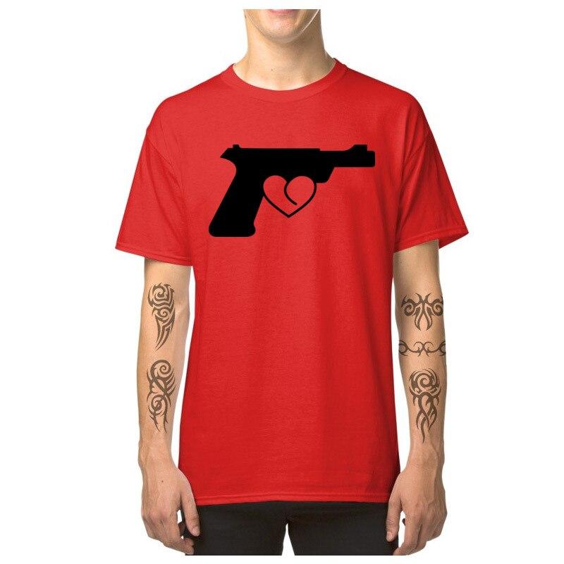 Love_Gun_7164 T Shirt 2018 Round Neck Simple Style Short Sleeve Pure Cotton Man Top T-shirts Custom T Shirt Top Quality Love_Gun_7164 red