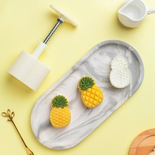 Plastic Mooncake Mold 50g Cookie Cutter with Pineapple Lotus Stamp Chocolate DIY E7CB